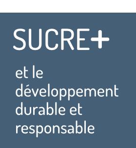 Sucre+ et le développement durable et sustenible